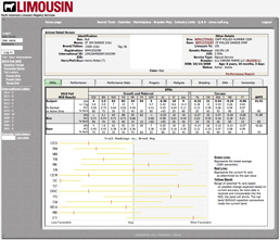 Limousin Registry Screen Capture
